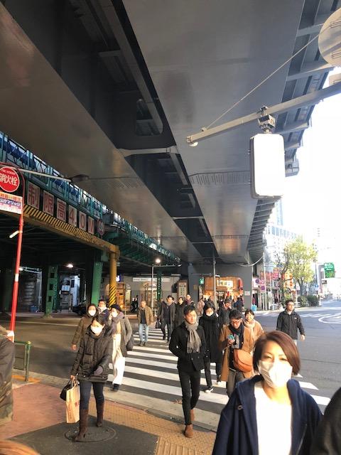 Calles de Japon, personas usando mascarillas