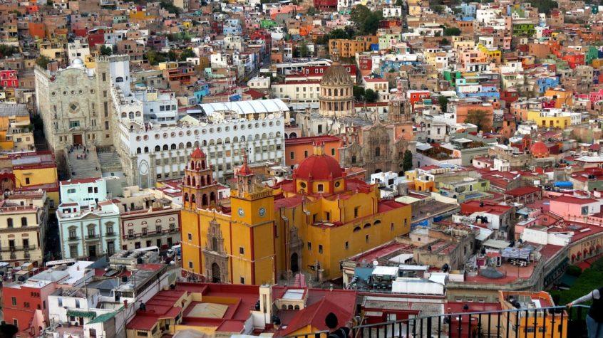 Vista aérea de Guanajuato